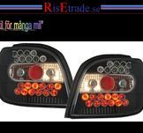 LED baklampor till Toyota Yaris / Svart