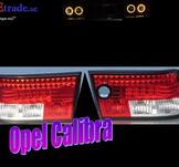 Rödvita Led bakljus till Opel Calibra.