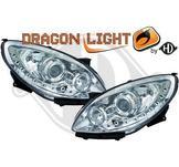 """Strålkastare DRL """"dragonlight""""DESIGNSCHEINW.SET  TWINGO,"""