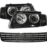 Angel Eyes headlights VW Passat 3B + Grill
