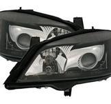Svarta strålkastare till Opel Astra. G.
