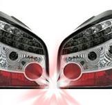 LED-bakljus i krom för Audi A3 8L