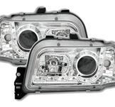 Strålkastare med lysdioder för Renault Clio A i Chrome