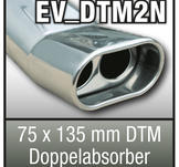 "SuperSport Tips variant DTM2N ""75x135mm DTM absorbatorn, platt oval, dubbel, fl""nsade rim"