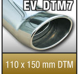 "SuperSport Tips variant DTM7 ""110x150mm DTM, oval, kantad Kant"