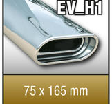 "SuperSport avgasr""r variant ""H1"" 75x165mm flat oval,"