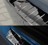 A4 B9 Avantslat på bakluckan (aluminium mellan ljus)..2008->