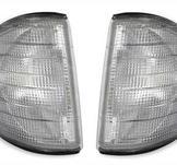 Silvergrå frontblinkers till Mercedes 190E W201
