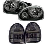 Svarta strålkastare, baklysen till Opel Corsa B