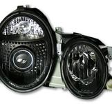Facelift för Mercedes W208 Headlight / Svarta