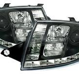 LED-strålkastare med svart för Audi TT 8N